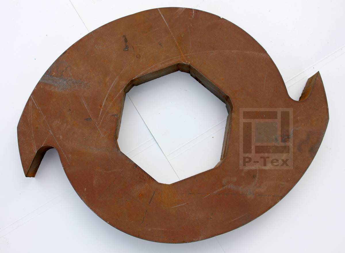 Ножи для шредера для переработки резины с размерами 216-100-40 из стали Hardox 600 (Хардокс 600)