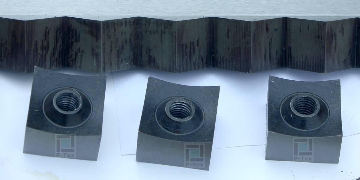 Квадратные (корончатые) ножи для шредера FSS1-1500 с размерами 40-40-24